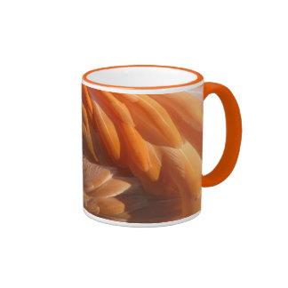 Flamingo Feathers Ringer Mug