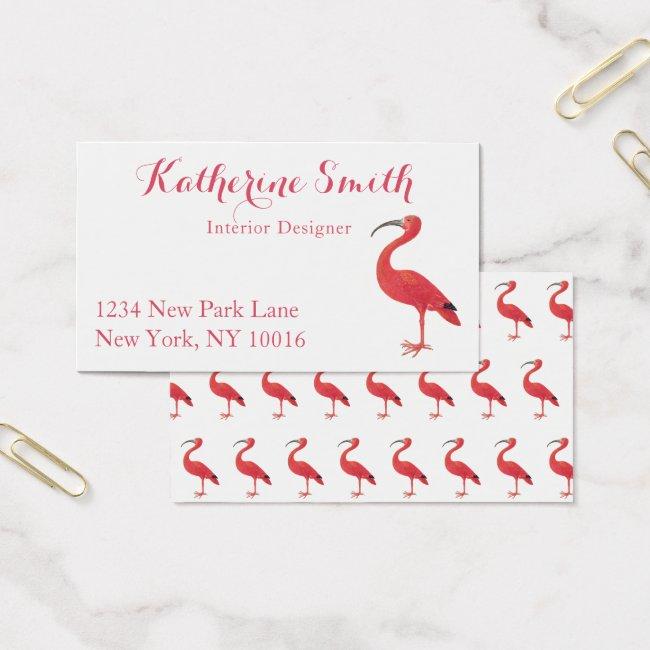 Flamingo - Fine Art Business Cards