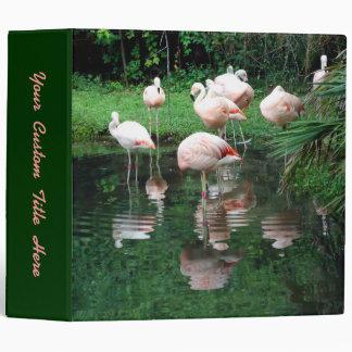 Flamingo Flamboyance 3 Ring Binder