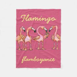 Flamingo flamboyance blanket