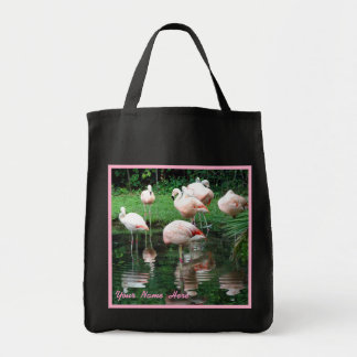 Flamingo Flamboyance Custom Tote Bag