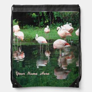 Flamingo Flamboyance Drawstring Backpack