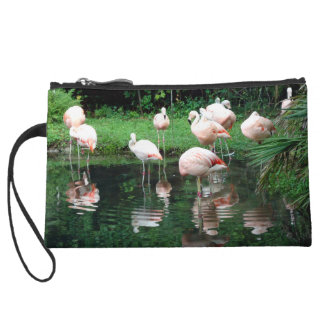Flamingo Flamboyance Wristlet Clutches