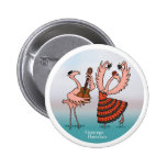 Flamingo Flamenco Button