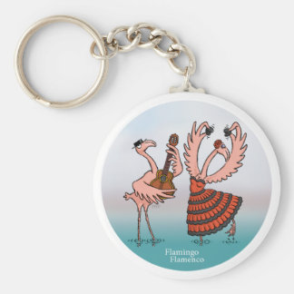 Flamingo Flamenco Keychain