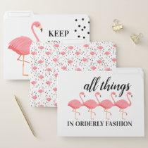 Flamingo Flare File Folders