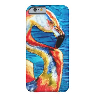 Beach Themed Flamingo Fone Barely There iPhone 6 Case