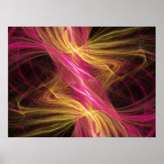 Flamingo Fractal print
