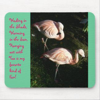 Flamingo Friends Mouse Pads