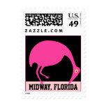 Flamingo Fun Travel Stamps Midway Florida FL
