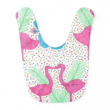 Beach Themed Flamingo Fun Tropical Pattern Bib