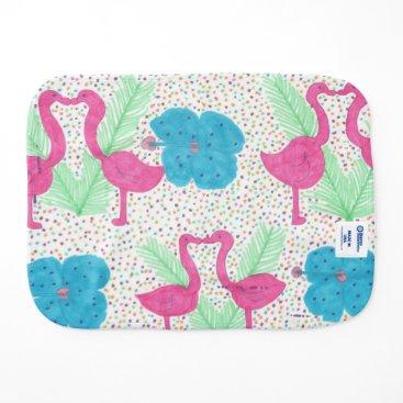 Beach Themed Flamingo Fun Tropical Pattern Burp Cloth
