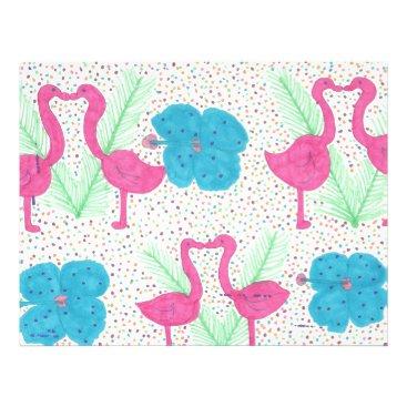 Beach Themed Flamingo Fun Tropical Pattern Letterhead