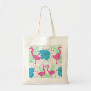 Beach Themed Flamingo Fun Tropical Pattern Tote Bag