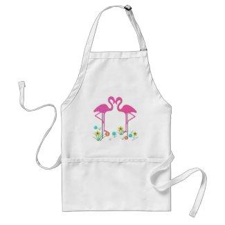 Flamingo Garden Apron apron