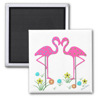 Flamingo Garden Magnet