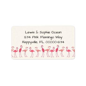 Beach Themed Flamingo Gathering Beach Residence Label