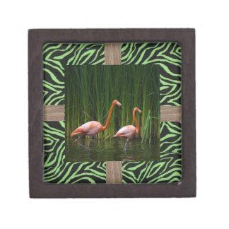 flamingo gift box premium trinket box