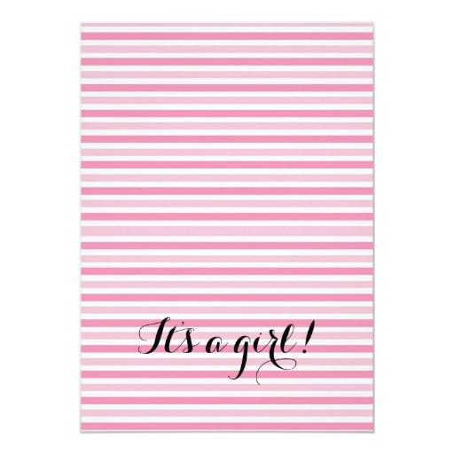 Flamingo Girl Baby Shower Invitation