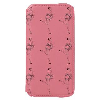 Flamingo girl iPhone 6/6s wallet case
