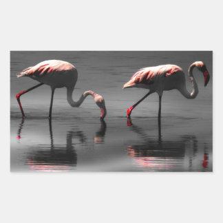 Flamingo Glow Rectangular Sticker