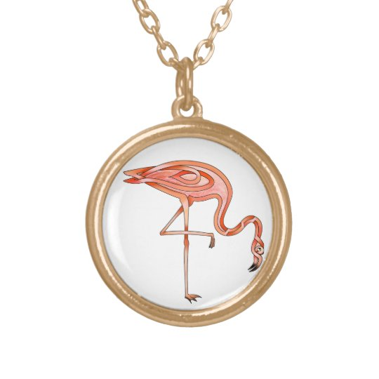 Flamingo Gold Plated Necklace
