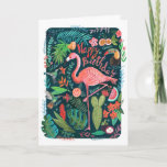 "Flamingo Happy Birthday | Greeting Card<br><div class=""desc"">Cartita design &#169;2016  All Rights Reserved