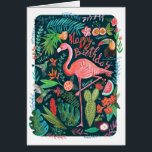"""Flamingo Happy Birthday 