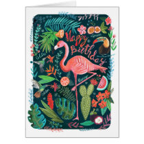 Flamingo Happy Birthday | Greeting Card