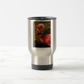 Flamingo head curved down travel mug