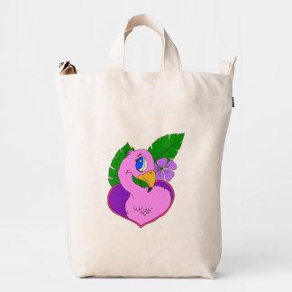 Flamingo heart duck bag