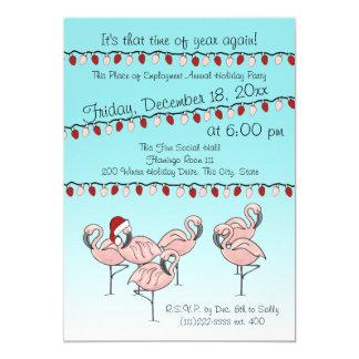 Flamingo Holiday Party Card