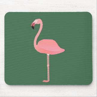 Flamingo +HunterGreen Mouse Pad