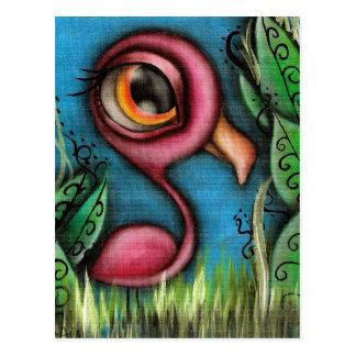 Flamingo in Garden Postcard