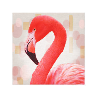 Flamingo in Pink Canvas Print