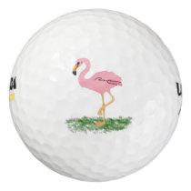 Flamingo In The Grass Golf Balls