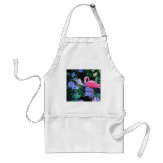 Flamingo in the Petunia Bed Adult Apron