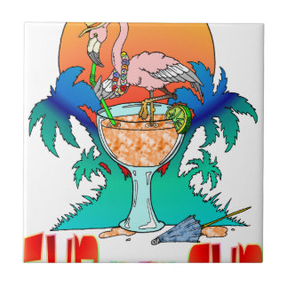 Flamingo in the Sun Tile