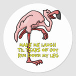 Flamingo Incontinence Round Stickers