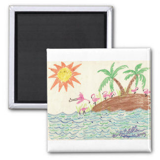 Flamingo Island Magnets