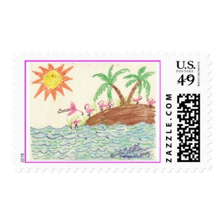 Flamingo Island Postage