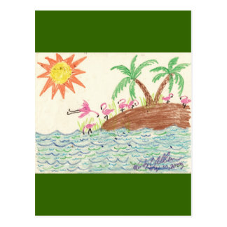 Flamingo Island Postcard