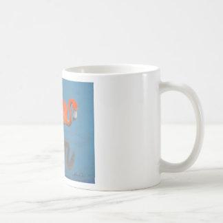 Flamingo items classic white coffee mug