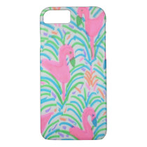 Flamingo Jungle Party iPhone Case