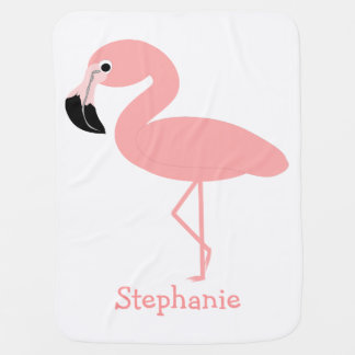 Flamingo Just Add Name Swaddle Blanket