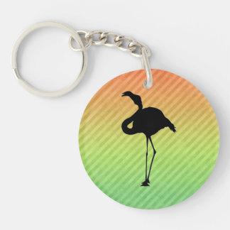 Flamingo Double-Sided Round Acrylic Keychain
