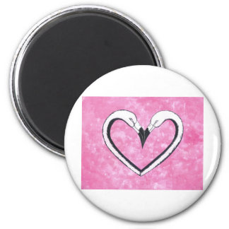 Flamingo Kiss Heart, love gifts Magnet