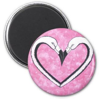Flamingo Kiss Heart, love gifts Fridge Magnet