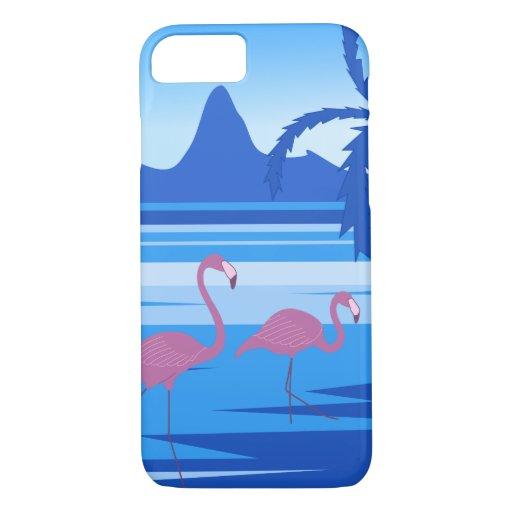 Flamingo lake blue iPhone 8/7 case