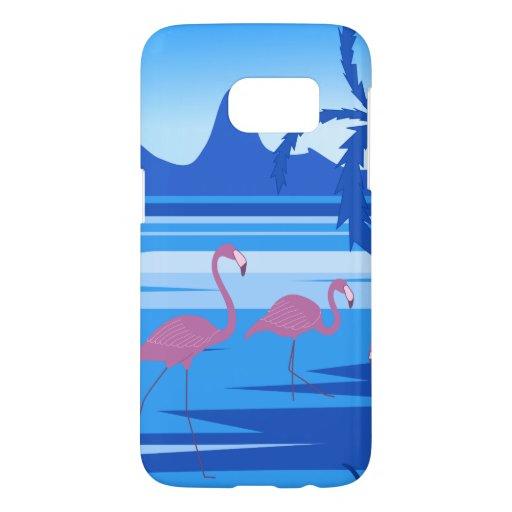Flamingo lake blue samsung galaxy s7 case